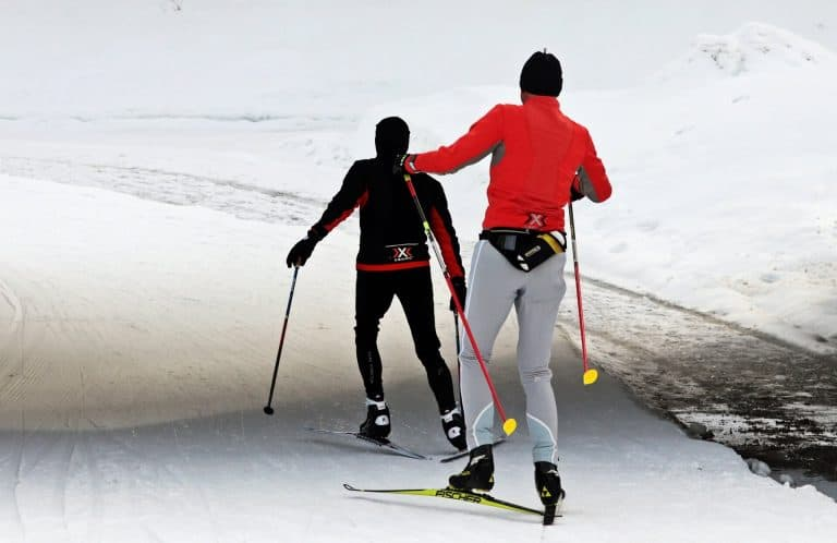 cross country skiing dolomites