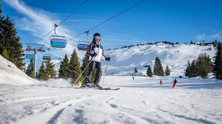 ski slope italy