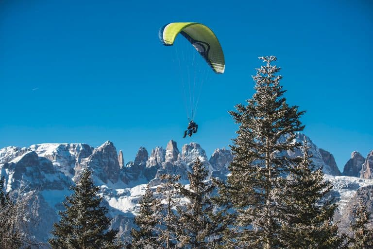 winter Paragliding Italy